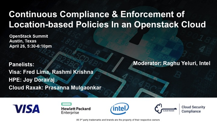 visa,-cloud-raxak,-hpe,-intel,-open-stack-summit-cloud-security-compliance-panel-session